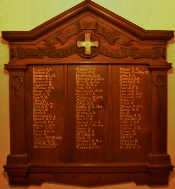 ANZAC Wesley Honor Board