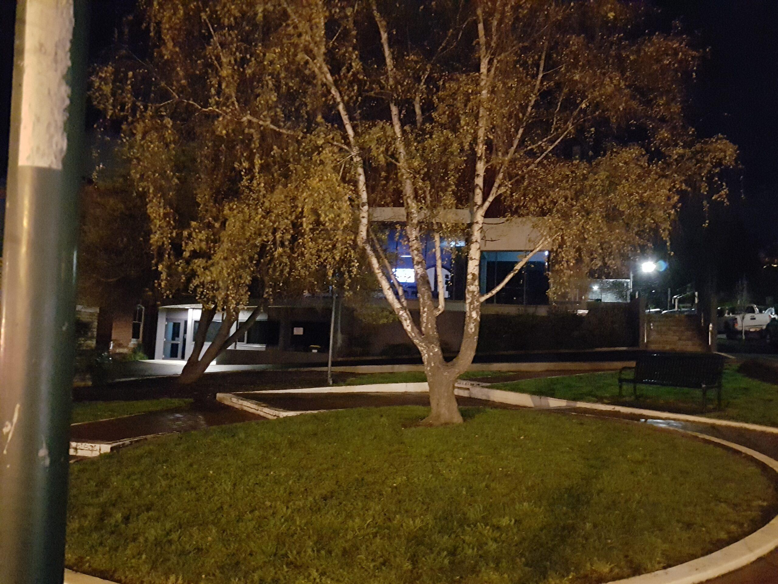 Hobart North Uniting Church Park at Night