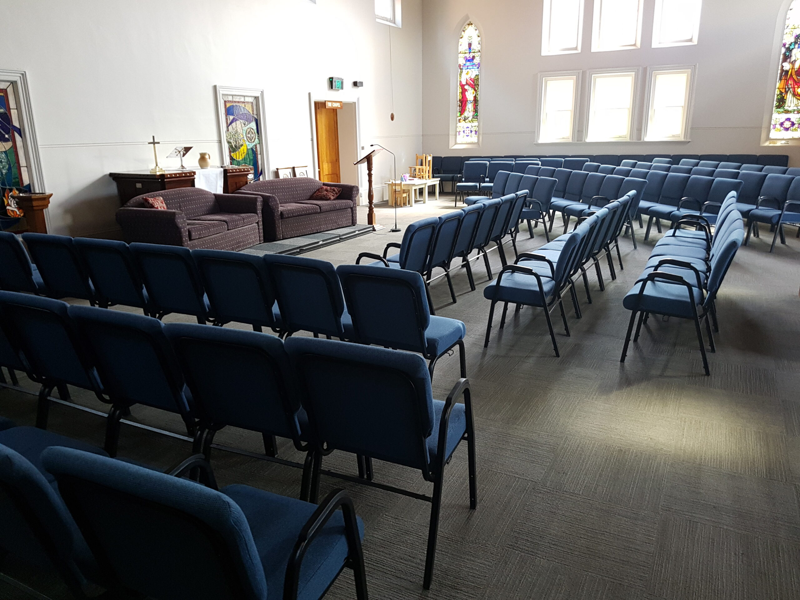 Worship in a different layout