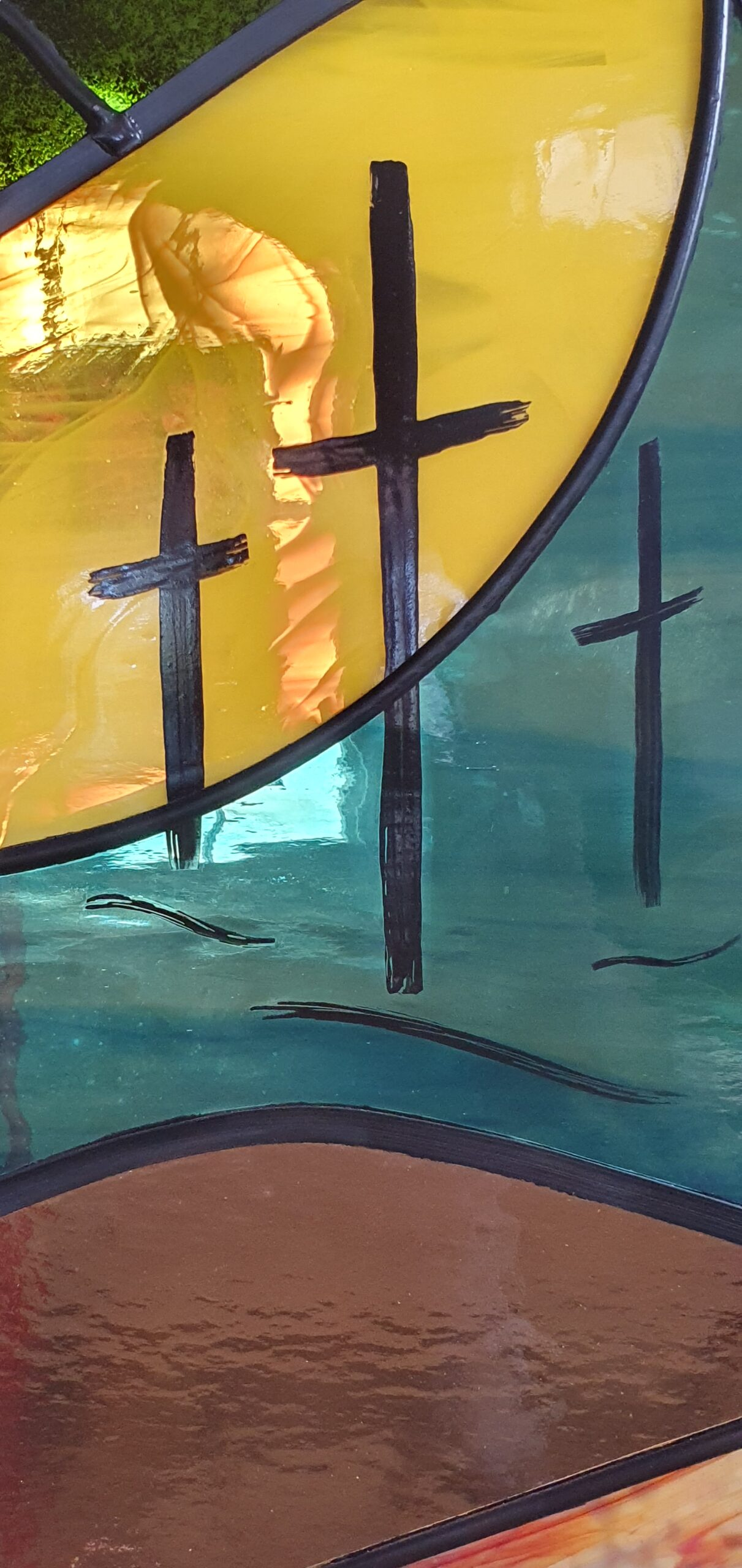 Stained Glassed Window - Crosses
